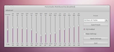 Linux system-wide Pulseaudio Equalizer