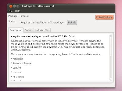 GDebi open deb Ubuntu 10.10