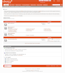 new ubuntuforums design