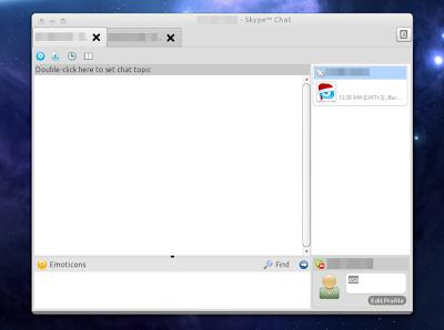 Skype tabs linux