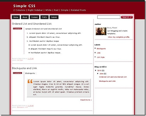 Simple CSS