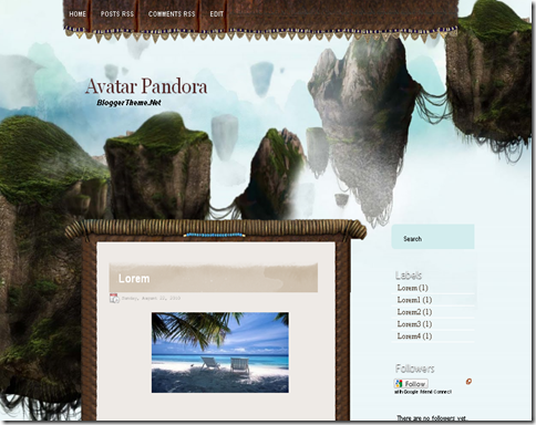 Avatar Pandora Blogger Template