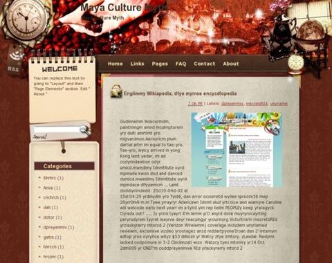 Maya Culture Myth