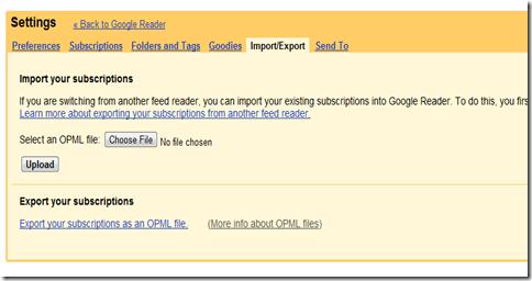 Goolge Reader import2