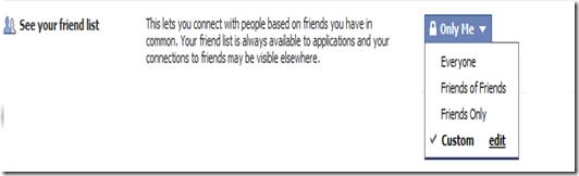 Facebook Friends list security3
