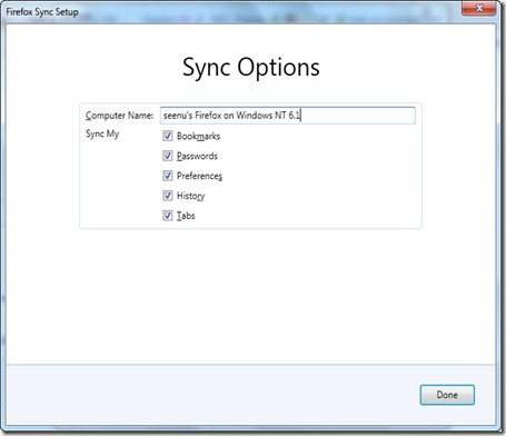 Firefox Sync4