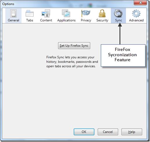 Firefox syncronization