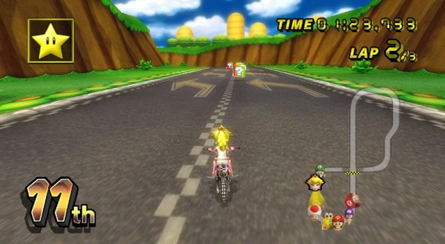 Mario Kart Wii Peach
