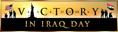 Victory in Iraq Day banner