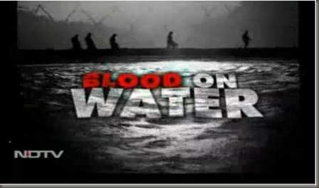 blood on water