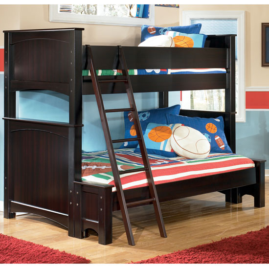 Awesome Embrace Youth Twin over Full Kendall Stripe Youth Bunk