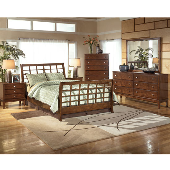 Furniture Stores Hendersonville Tn ... » South Coast Sleigh Bedroom Set By Millennium By Ashley Furniture