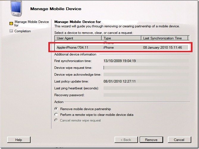 Manage Mobile Device