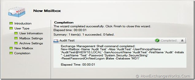 Audit Test Mailbox