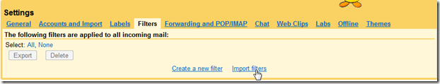 Import Filters