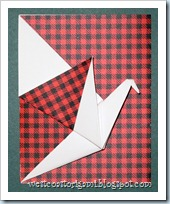Red and Black Crane Card