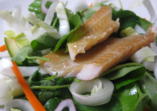 Vietnamese Salad with Smoked Trout and Bitter Greens