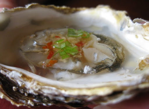 Oysters with Vietnamese Ginger-Chili Sauce