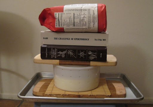 Improvised Cheese Press