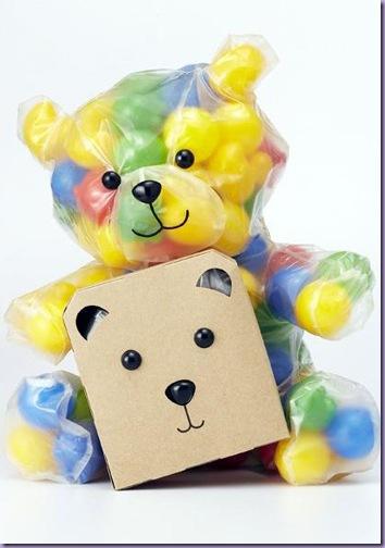 Embalagem-Saco-Formato-Ursinho-Guardar-Coisas-Caixa