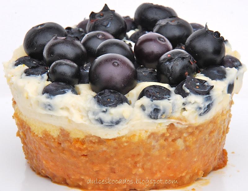 Cheesecake con arandanos
