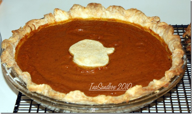 pumpkin pie with logo