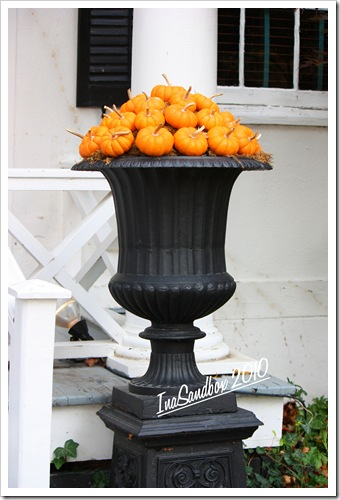 Pumpkin Urn with logo