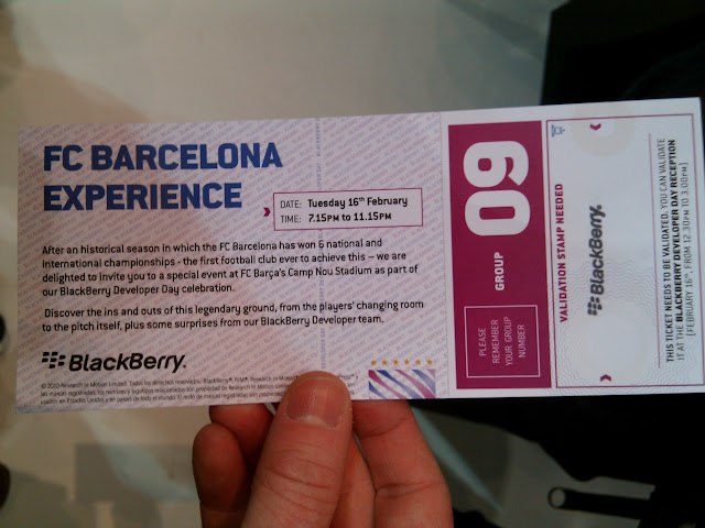 BlackBerry Developer Day Camp Nou Tour