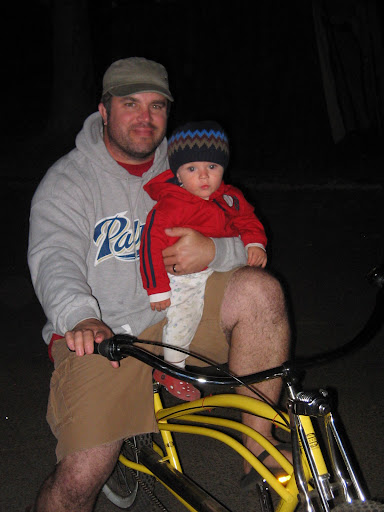 Me and my little man on the cruiser