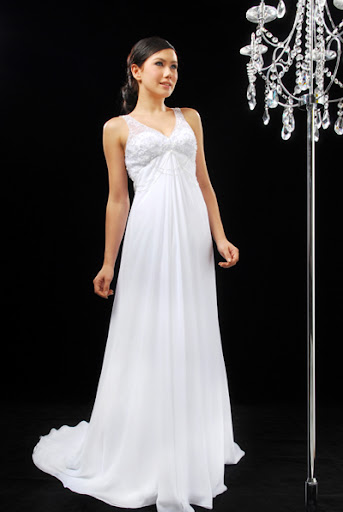 Simple Chiffon Wedding Dresses Design