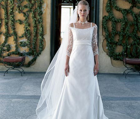 Destination Outdoor Wedding Bridal Gown