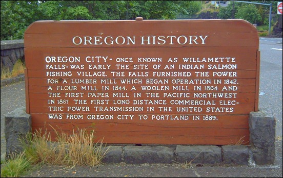 Oregon City Falls Marker