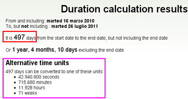 Calcolare quanti giorni ci sono fra due date