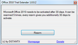 Office 2010 Trial Extender