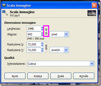 Adattare foto al desktop con GIMP