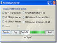 Generare password sicure WEP e WPA per router wifi