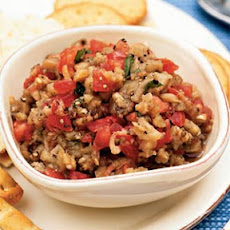 Eggplant and Tomato-Mint Salsa