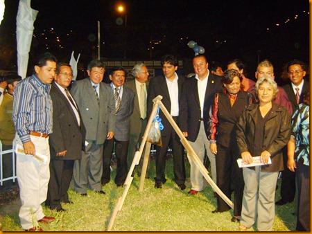 ing. nelson chui mejía junto a los alcaldes de santa eulalia, cocachacra, ricardo palma y cachlacayo