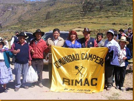 presidente regional nelson chui junto a las comunidades campesinas de huarochirí
