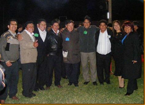 presidente regional nelson chui junto a los alcaldes de Huarochirí