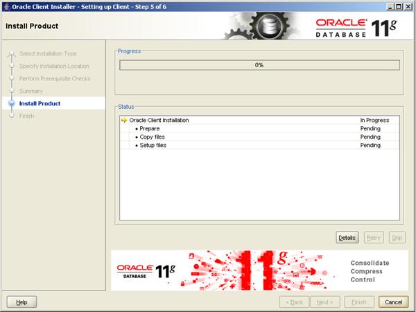 4. Installation InstantClient Install Product