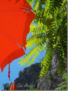 Ciao Amalfi Coast Blog Beach Umbrella Mountains