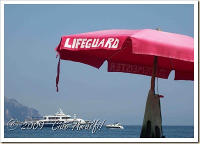 Ciao Amalfi Coast Blog Atrani Beach Lifeguard