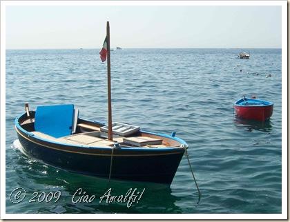 Ciao Amalfi Coast Blog Blue Boat Amalfi