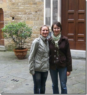 Katie and Laura in Florence
