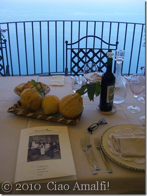 Ciao Amalfi Blog Mamma Agata Lunch Table