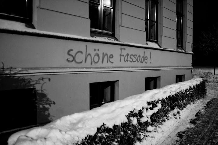 Schöne Fassade August Bebel Straße