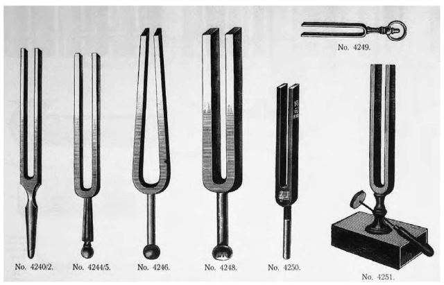 A piano tuner, using a tuning fork such as the ones shown above, utilizes interference to tune the instrument.