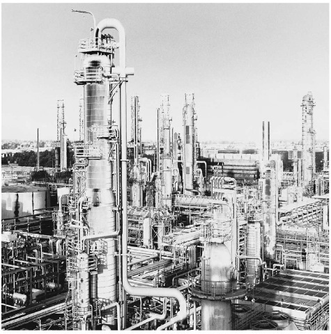 Few industries employ distillation to a greater degree than does the petroleum industry. Shown here is an oil refinery.