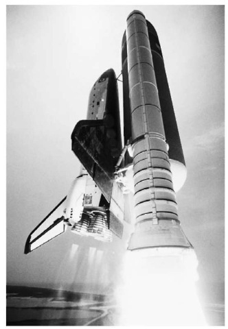Oxidation-reduction reactions fuel the space-shuttle at take-off.